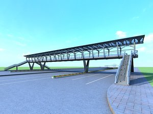 bridge foot footbridge 3D
