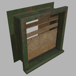 old wood window 3D model
