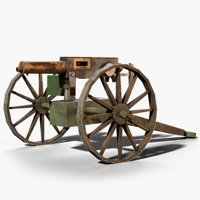 qf 1-pounder pompom cannon 3D model