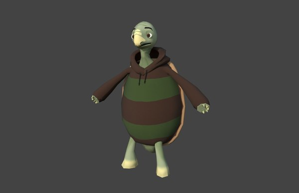 cartoon turtle 3D