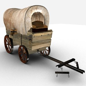wild west wagon 3D