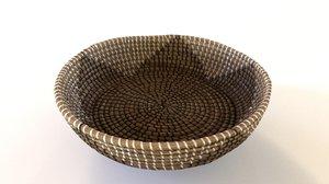 3D seagrass designer decorative bowl model