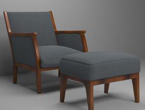 mira lounge chair 3D model