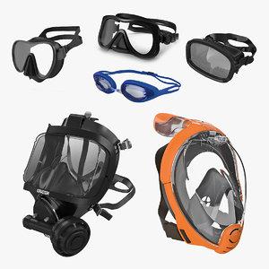 scuba masks 5 3D