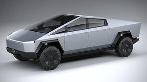 3D model tesla cybertruck 2022