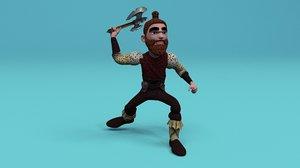 viking character 3D