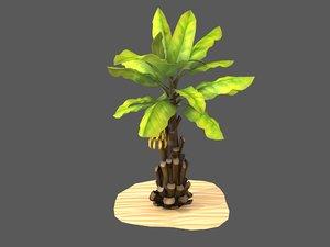stylized banana tree palm 3D