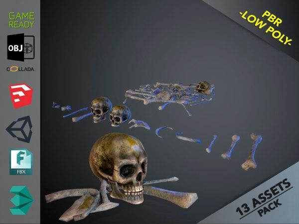 skulls1 infected alien bones model