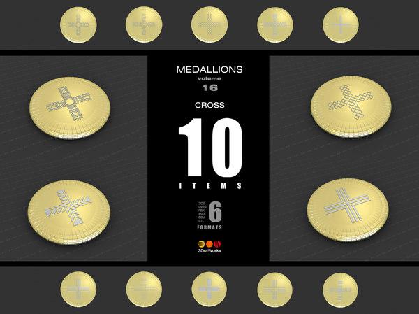 medallions vol 16 cross 3D