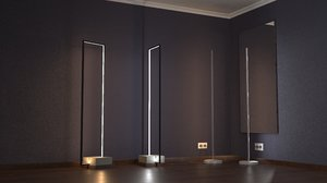 modern led lights 3D model