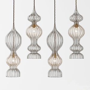 3D rothschild bickers spindle pendants model