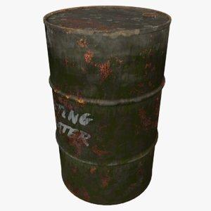 3D barrel oily water