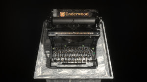 3D model typewriter underwood commercial
