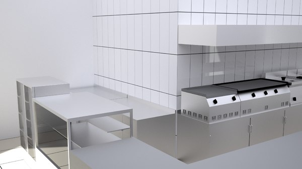 3D industrial kitchen model