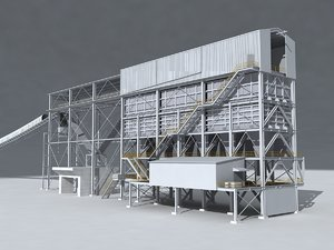 3D mineral processing buildings