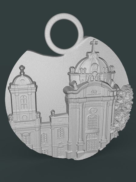 3D jewelry cathedral model