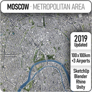 3D moscow area