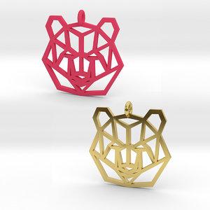 bear pendant 3D