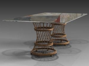 aruba dining table 3D model