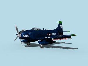 skyraider douglas a-1 3D