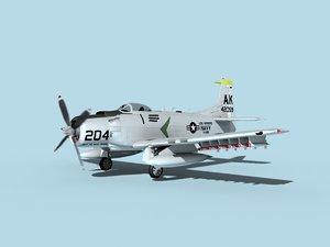 3D skyraider douglas a-1