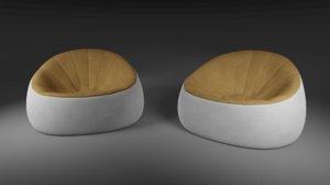 bean bag sofa 3D model