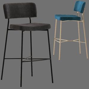 3D traba stool marlen model