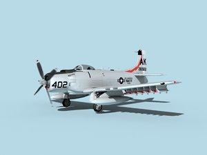 3D model skyraider douglas a-1