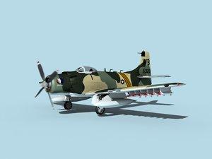 skyraider douglas a-1 usaf model