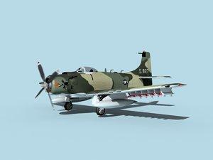 skyraider douglas a-1 usaf 3D