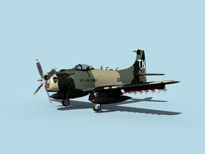 3D skyraider douglas a-1 usaf model