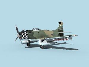 3D skyraider douglas a-1 usaf