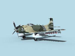 skyraider douglas a-1 usaf 3D model