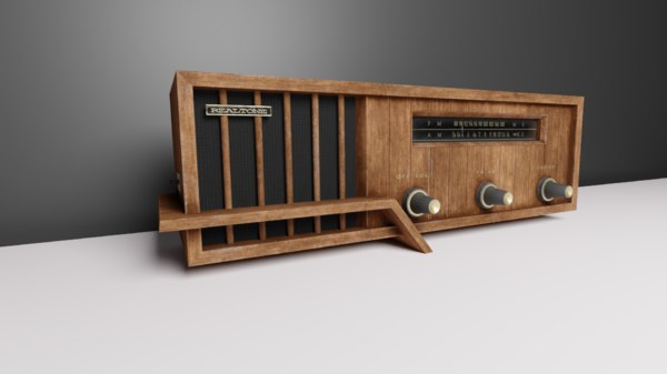 3D model vintage realtone radio