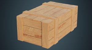 3D wooden box 3a model
