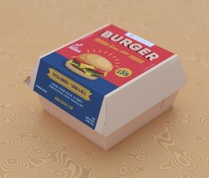 3D burger box