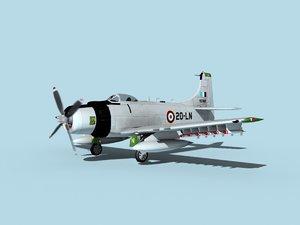 skyraider douglas a-1 3D model