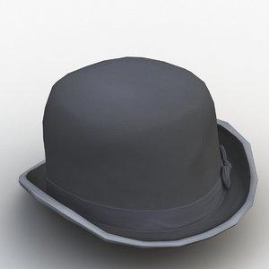 3D model churchill hat