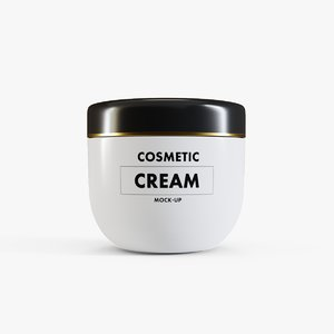 cosmetic cream container model