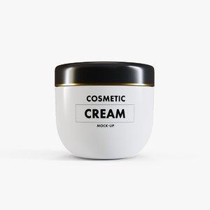cosmetic cream container model