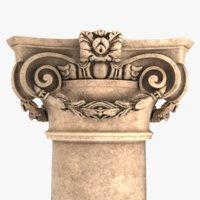 roman baroque collumn 3D model