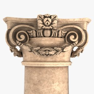 roman baroque collumn 3D model