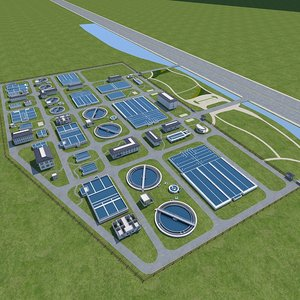 sewage water treatment station 3D model