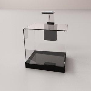 desktop aquarium 3D model