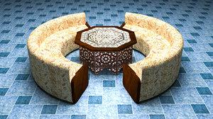 authentic dining set 3D