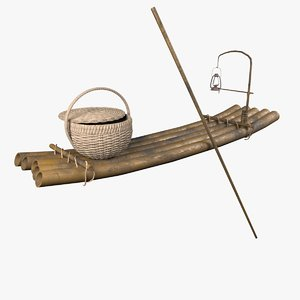 3D fishing raft boat model