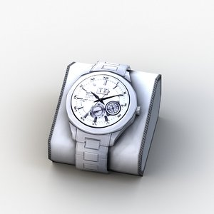 3D model casio watch ad