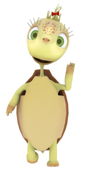 toon turtle cartoon model