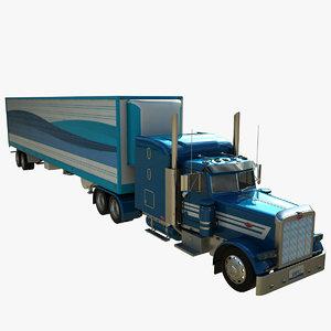 379 truck 3D