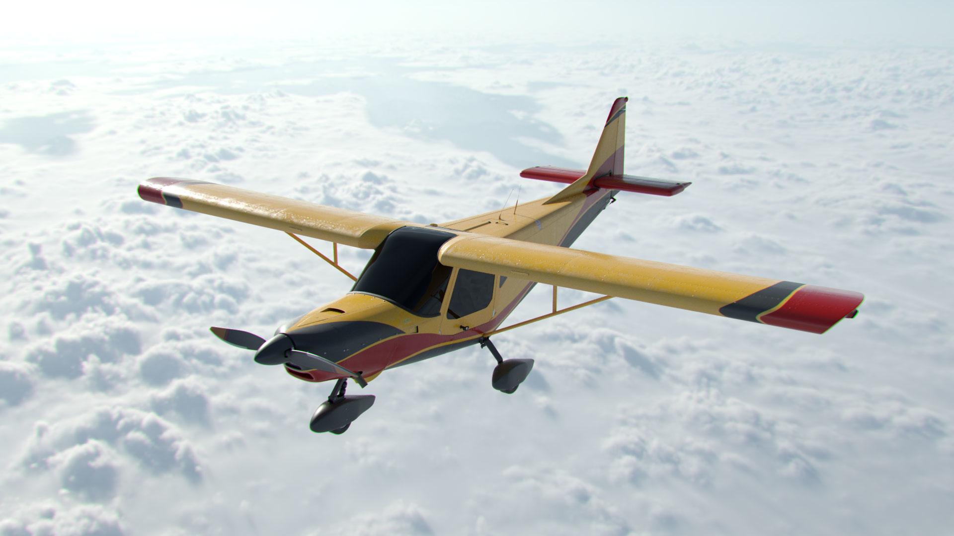 icp ventura rigged aircraft model